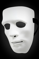 Masque rigide Don Juan : Masque pour homme rigide et blanc qui cache tout le visage, idéal pour cacher votre identité lors de soirées libertines.