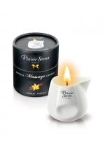 Bougie de massage - Vanille - Bougie érotique se transformant en huile de massage sensuelle au goût gourmand de vanille.