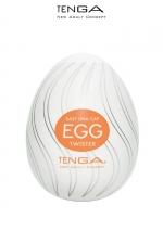 Tenga Egg Twister - Avec ses nervures en forme de tourbillon, ce masturbateur vous emportera dans un torrent de plaisir.