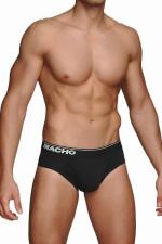 Slip MC088 noir : Slip noir à la coupe traditionnelle de la marque Espagnole de lingerie Masculine Macho.
